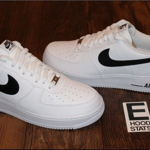 Air Force 1'07 AN20 White Black Men Size 12
